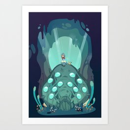 Nausicaa of the Valley of the Wind Art Print