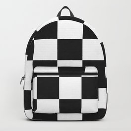 checks pattern home decor Backpack