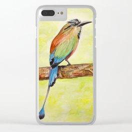 Turquoise Browed Motmot — National Bird of El Salvador Clear iPhone Case
