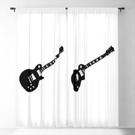 Black Guitar Blackout Curtain