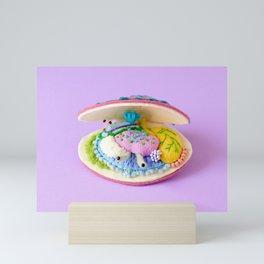 Anatomy of Pink Deep Water Clam Mini Art Print