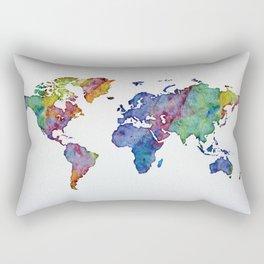 Multicolor World Map 03 Rectangular Pillow