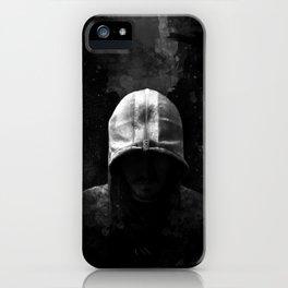 Modern Assassin Hood - B&W iPhone Case