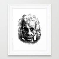 einstein Framed Art Prints featuring Einstein by Jaume Tenes