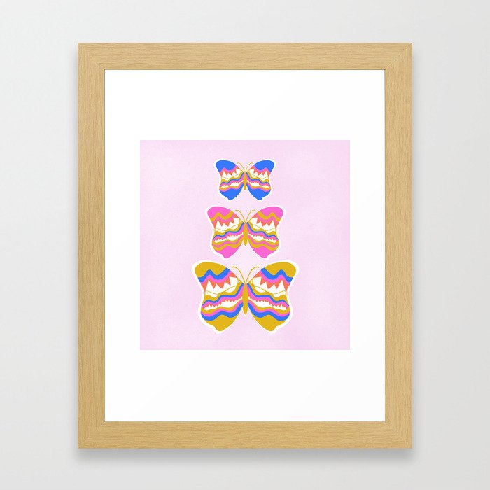 berkeley butterflies Framed Art Print