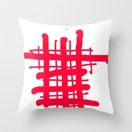 RED check Throw Pillow