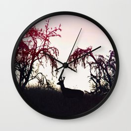 Silhouette Game Strong Wall Clock