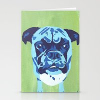 boxer Stationery Cards featuring Boxer by mkfineart