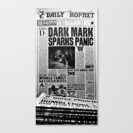Daily Prophet newspaper Canvas Print