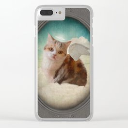 Little Angel Olive Clear iPhone Case