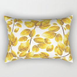 Branch of marigold trembling aspen Rectangular Pillow