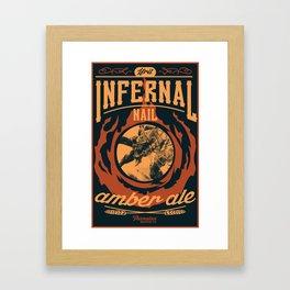 Infernal Nail Amber Ale   FFXIV Framed Art Print