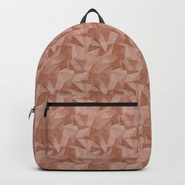 Abstract Polygon Sherwin Williams' color of the year for 2019, Cavern Clay Cubism Low Poly Triangle Backpack