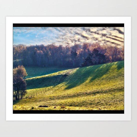 Chromatic Hills Art Print