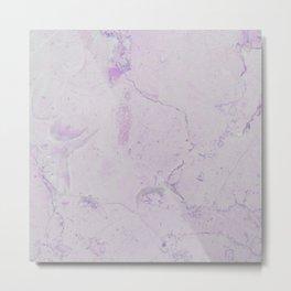 Vintage blush lavender elegant marble Metal Print