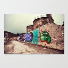 Abandoned Cement Plant Canvas Print