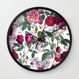 Rose Garden IV Wall Clock