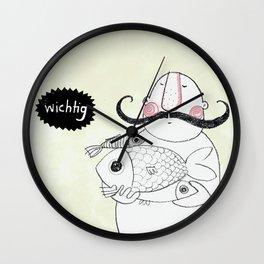 Mr. Wichtig Wall Clock