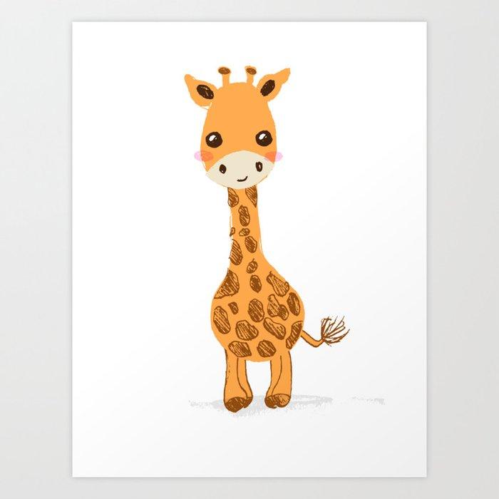 Cute Giraffe Nursery Decor Art Print By Purplesparrow