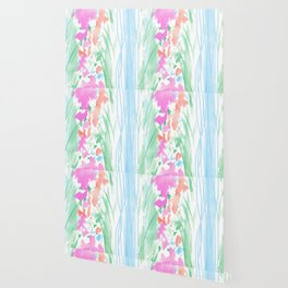 watercolor stripe Wallpaper