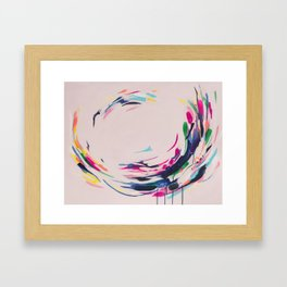 This Electric - Abstract Painting by Jen Sievers #society6 Framed Art Print