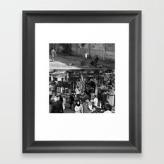 Street collage Framed Art Print