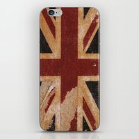 flag iPhone & iPod Skins featuring Flag by April Gann