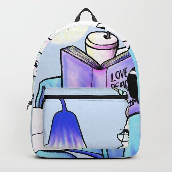 Reading unicorn (blue) Backpack