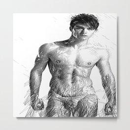 Male Model Metal Print