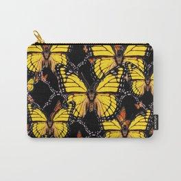 YELLOW MONARCH BUTTERFLIES DECO ART Carry-All Pouch