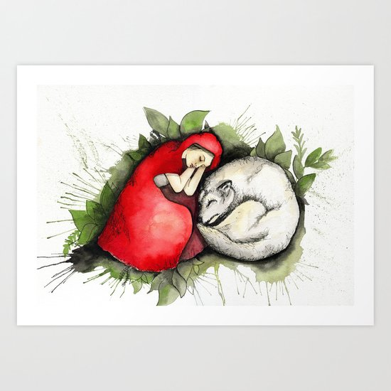 Litte Red Riding Hood Art Print