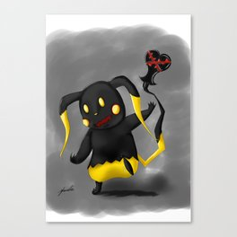 Heartless Pika Canvas Print