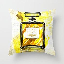 Parfum Gold Throw Pillow