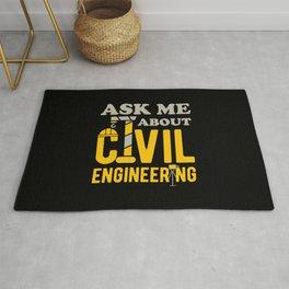 Civil Engineering Funny Rug