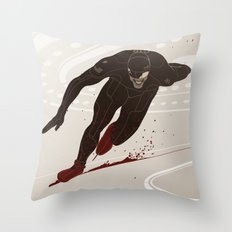 Bloody Skating - The Runner Up Throw Pillow