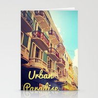 puerto rico Stationery Cards featuring Colorful Puerto Rico  by Forgotten Charm