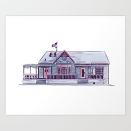Sneaky Beans Coffeehouse | Fondren Funk Art Print