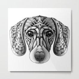 Ornate Dachshund Metal Print