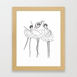 Ink and Ballet 3 Framed Art Print