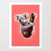 koala Art Prints featuring Koala by beart24
