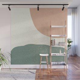 Minimalist Painting - Terra Green Wall Mural