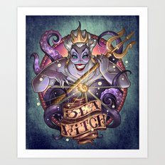 SEA WITCH Art Print