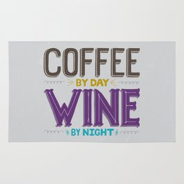 Coffee By Day, Wine By Night Rug