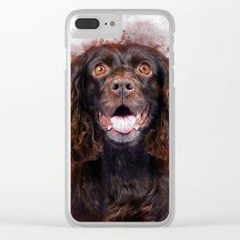 Spaniel Clear iPhone Case