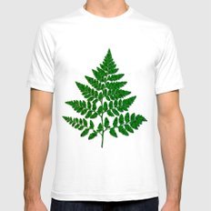 Fern leaf White SMALL Mens Fitted Tee