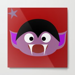 cute vampire red Metal Print