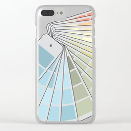 Paint Swatches Clear iPhone Case