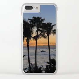 Tropical Paradise Sunset Clear iPhone Case