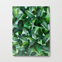 Banana palm leaf tropical jungle green Metal Print
