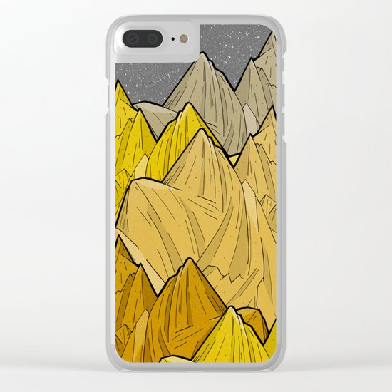 The Golden Mountains Clear iPhone Case